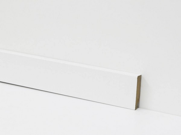Equipped Sockelleiste 80mm 0030 Weiss Ohne Nut (Weimarer Leiste)