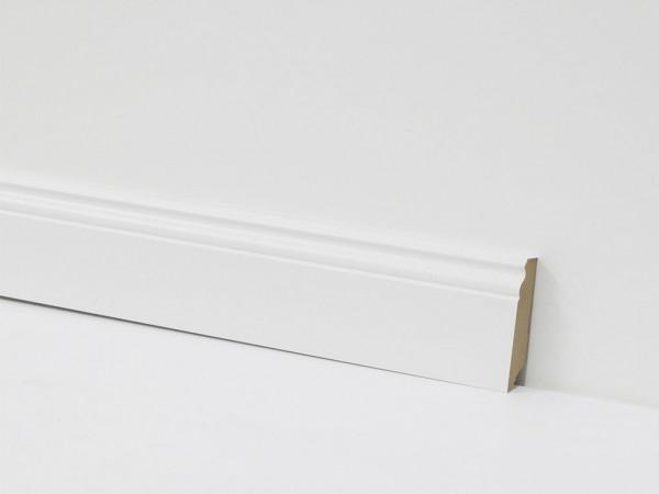 Equipped Sockelleiste 70mm 0029 Weiss Mit Nut (Berliner Leiste)