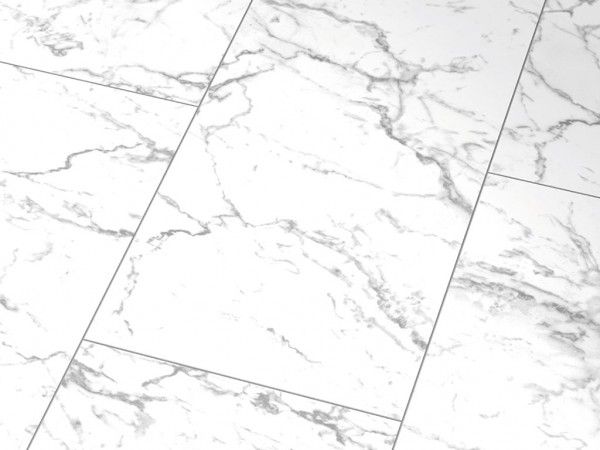 Glanzlaminat Falquon Stone 2.0 HG D2921 Carrara Marmor 4V-Fuge